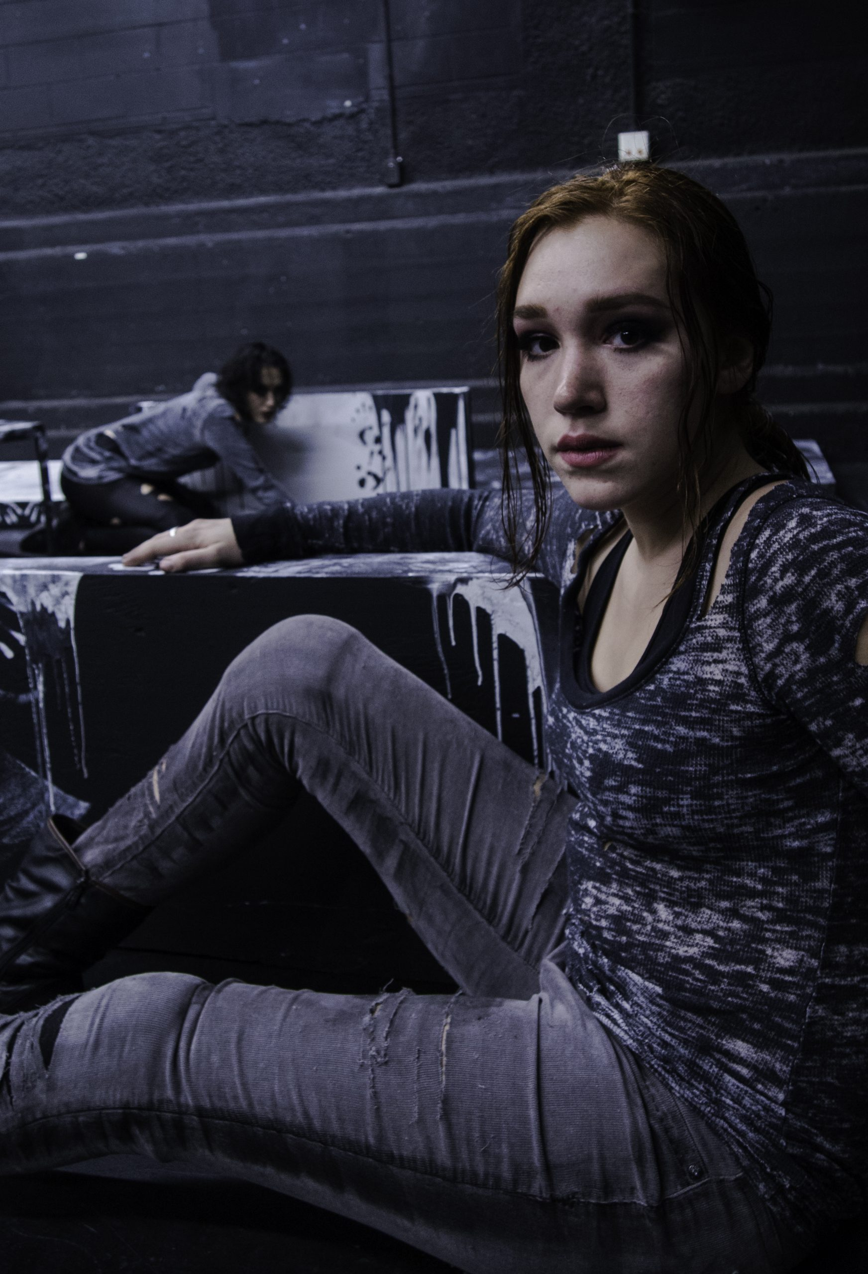 Madeline Whitesell and Diana Gardner in Triangle Collective's <i>A Well</i>