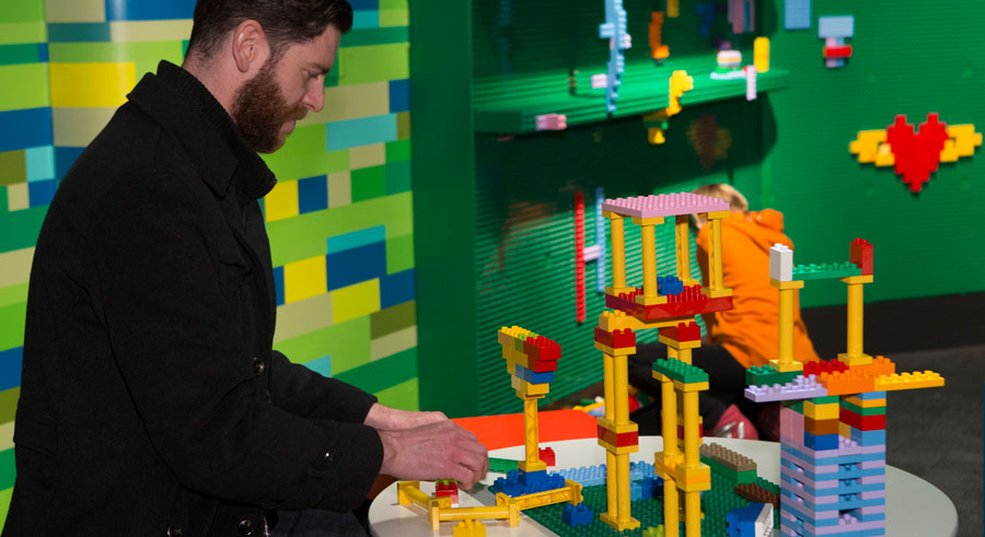 Play with Legos at MSI After Hours: Brick Bash on Sat 7/16.