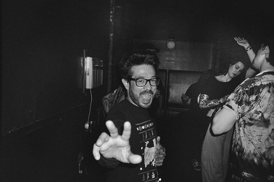 "Alejandro Morales at ""Mark E. Smith's Night"" at Danny's in 2017"