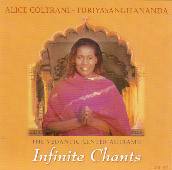 The cover of <i>Infinite Chants</i> by Alice Coltrane, also known as Turiyasangitananda