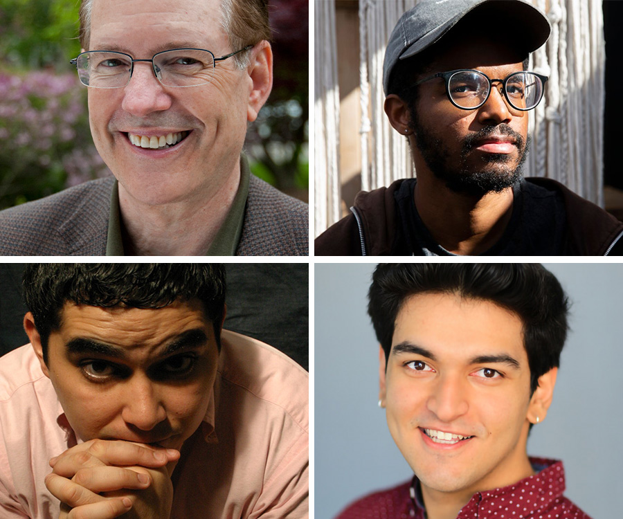 Clockwise from top left: David Bell, Khiyon Hursey, Ruchir Khazanchi, Kristoffer Diaz