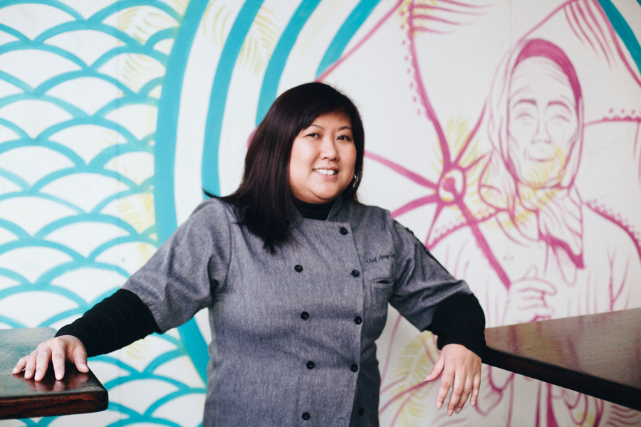 Amy Le, founder and former president of the Illinois Food Truck Association and owner of the Loop lunch spots Saucy Porka and Spotted Monkey