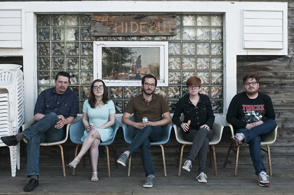 Left to right: Zach Peterson, Katie McVay, Matt Byrne, Stephanie Hasz, and Goodrich Gevaart get serious about stand-up with the inaugural Comedy Exposition.