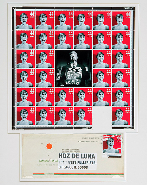 A new set of phony stamps by Michael Hernandez de Luna on display through 5/14.