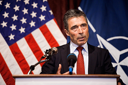 Anders Fogh Rasmussen, secretary general of NATO and not yet a household name in Chicago