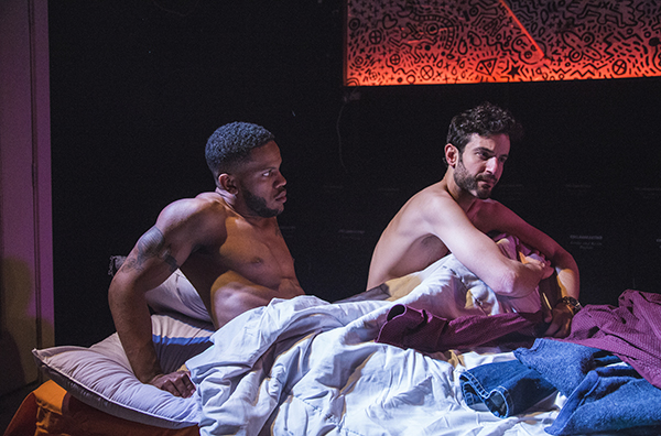 Brian Keys and Nik Kourtis in First Floor Theater's <i>Animals Commit Suicide</i>