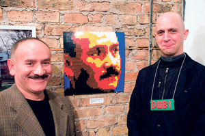 30th Ward alderman Ariel Reboyras with artist Dubi