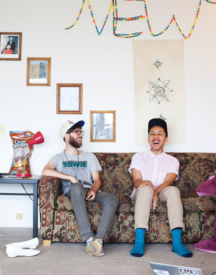 The stroke of inspiration for the adult film Austin Plowers hit roommates Jaboukie Young-White and Cameron Chapleau as they sat on their couch one night with too much time on their hands.