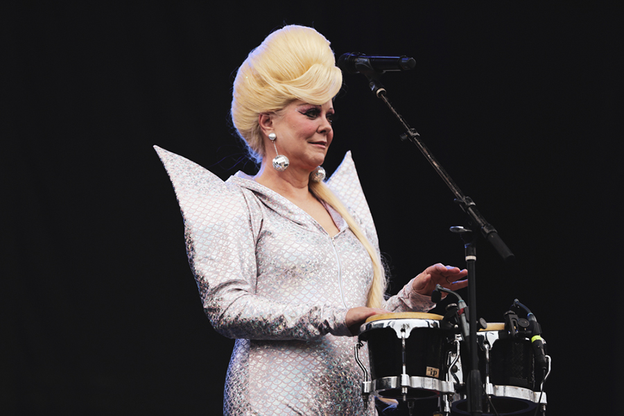 Cindy Wilson: possibly from space