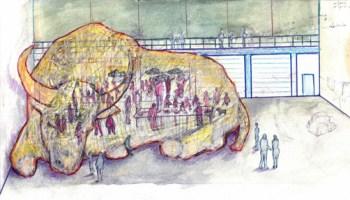 """Artist rendering of """"The Beast"""" by John Preus"""