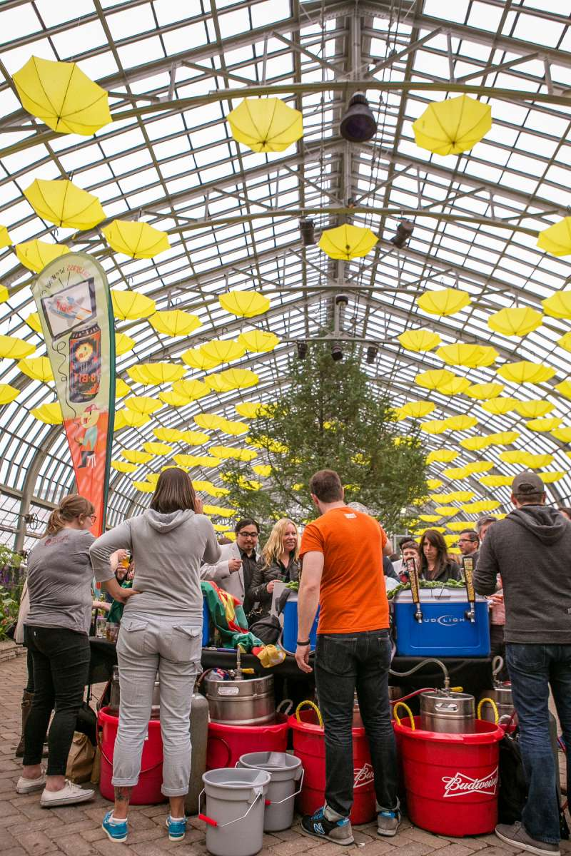 Get your drink on while surrounded by Garfield Park Conservatory flora at Beer Under Glass.