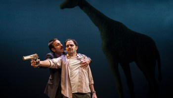 Kareem Bandealy and Anish Jethmalani in <em>Bengal Tiger at the Baghdad Zoo</em>