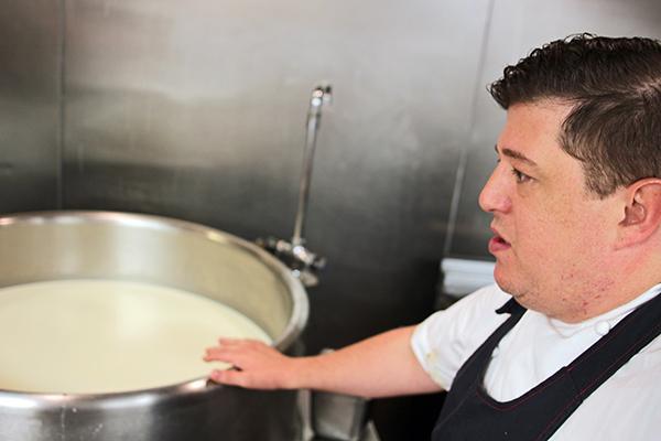 Greg Biggers learned cheese-making at Zingerman's Creamery in Ann Arbor.
