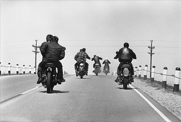 Danny Lyon, Route 12, Wisconsin from The Bikeriders (Aperture, 2014)