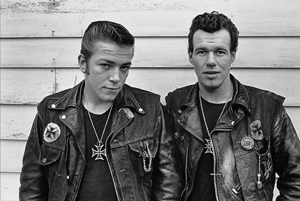 Danny Lyon, <i>Sparky and Cowboy (Gary  Rogues), Schererville, Indiana</i> from <i>The Bikeriders</i> (Aperture, 2014)