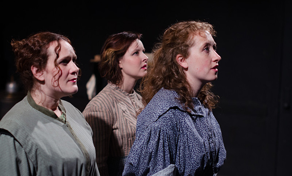 Eleanor Katz, Janeane Bowlware, and Anne Korajczyk in <i>Brontë</i>