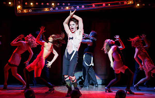 Randy Harrison as the Emcee in Roundabout Theatre's touring <i>Cabaret</i>