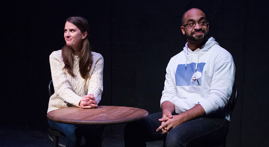Bryce Gangel and Martel Manning in <i>Cancellation</i>, part of Ten 2018