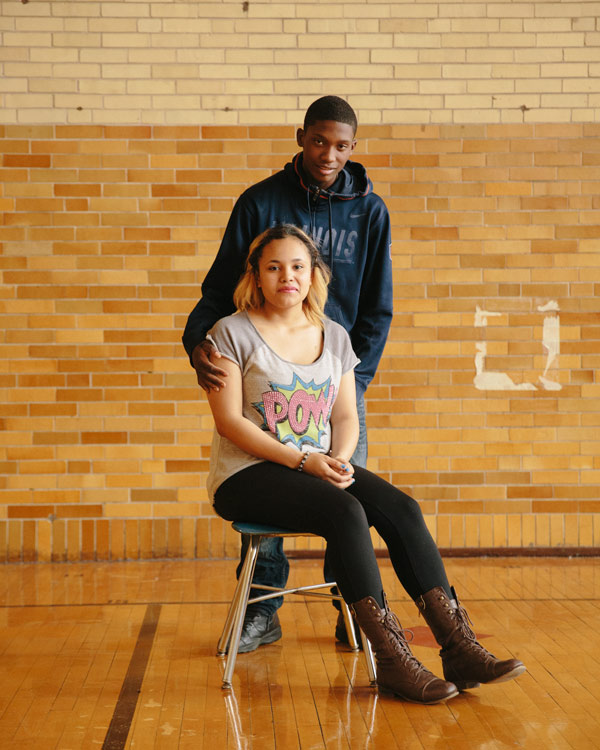 Castro and her boyfriend, junior Darius Calhoun. He's on the dean's list, and is a guard on the basketball team.