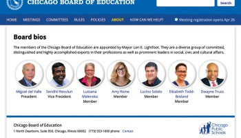 The current board, all appointed by Mayor Lightfoot, none elected by the people