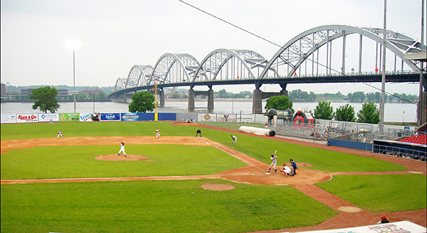 Modern Woodmen Park, currently home to the Quad Cities River Bandits,  dates back to 1931 and features a cornfield along the left-field line.