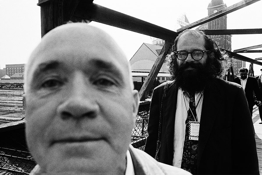 Jean Genet (who spoke no English) and Allen Ginsburg