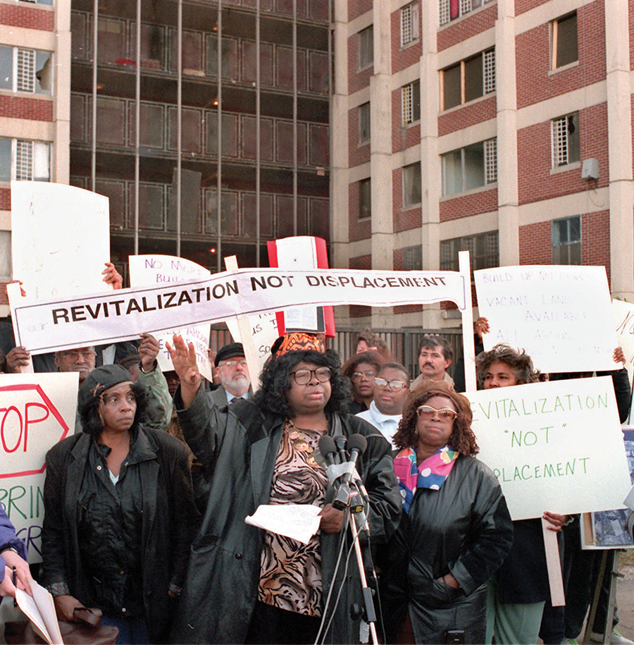Elected tenant leaders from Chicago's public housing projects took legal action in the face of the Plan for Transformation to assure residents' rights to return to new and rehabbed units.
