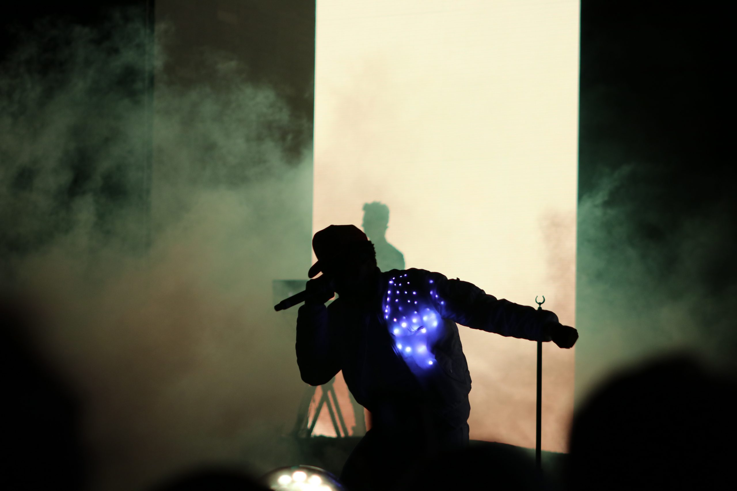 Chance's jacket lights the way.