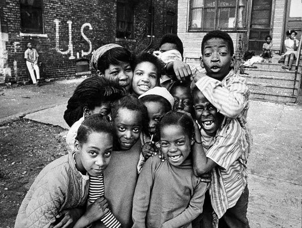 "<em>Chicago Kids</em> from the 1973 ""Through Eyes of Blackness"" exhibit"