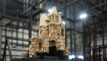 """A model of one of three Victorian """"houses"""" to be torched as part of the festivities"""