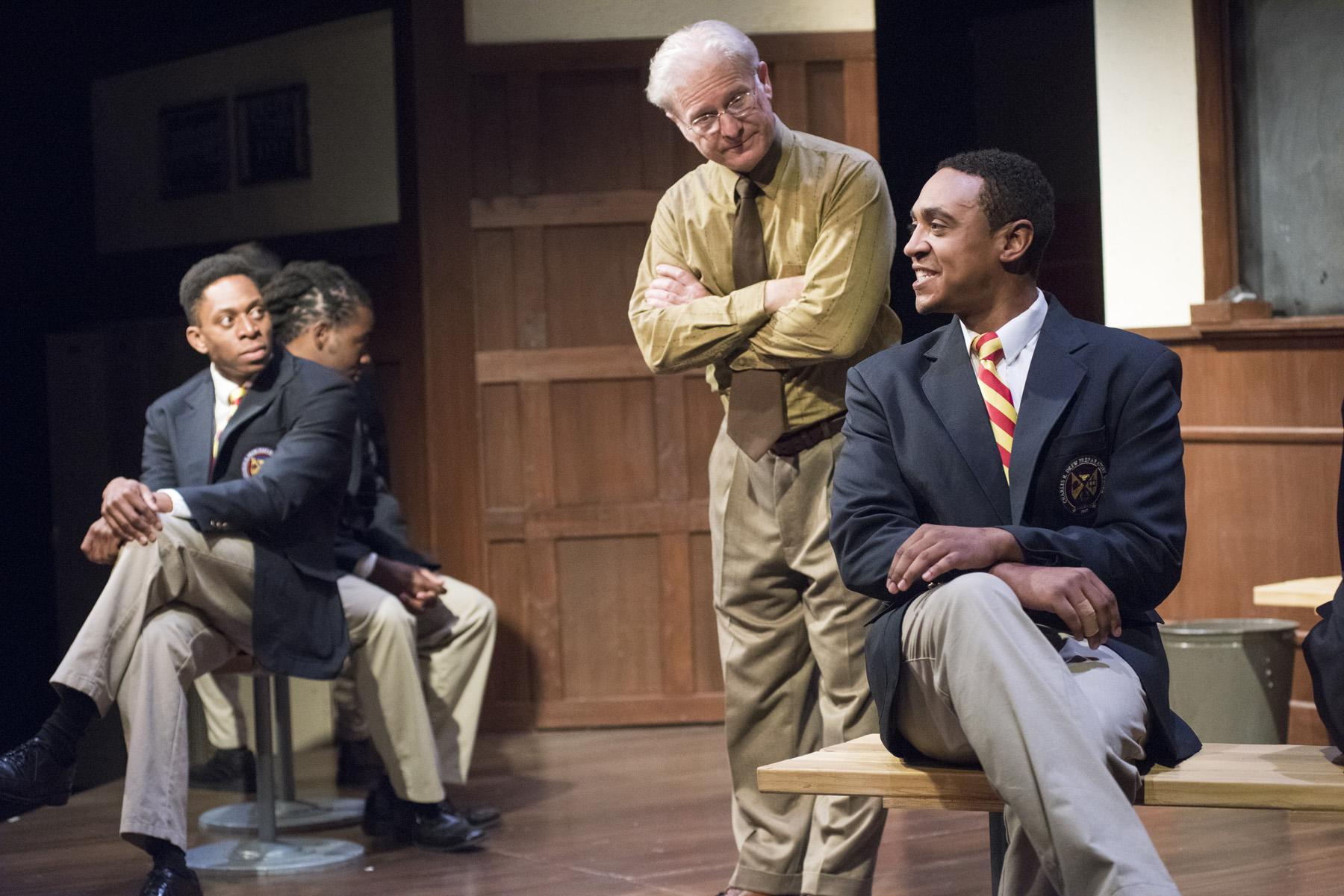 Patrick Agada, Don Tieri, and Christopher W. Jones in <i>Choir Boy</i>