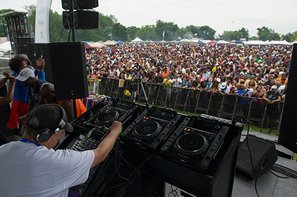 Chosen Few DJ Alan King at the 2014 picnic