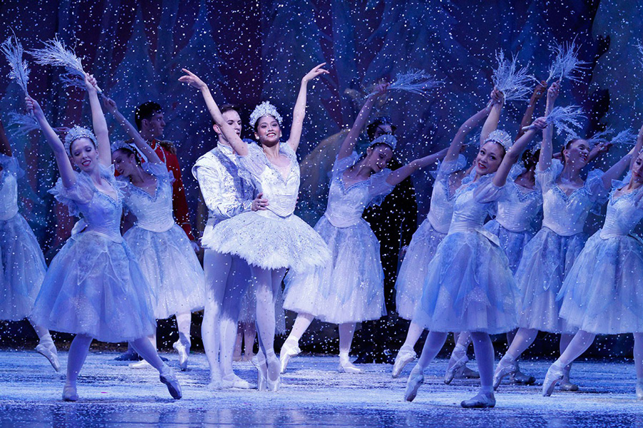 Christine Rocas as the Snow Queen in the 2012 production of <i>The Nutcracker</i>