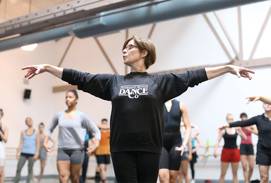 Claire Bataille teaching at the Lou Conte Dance Studio.