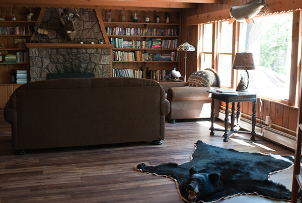 Clam Lake Lodge combines the ultimate man cave with an idyllic writing retreat.