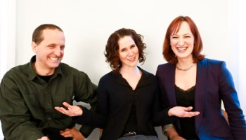 Puppeteer Blair Thomas, Julia Rhoads of Lucky Plush Productions, and Jen Richards of Eighth Blackbird, now creative partners