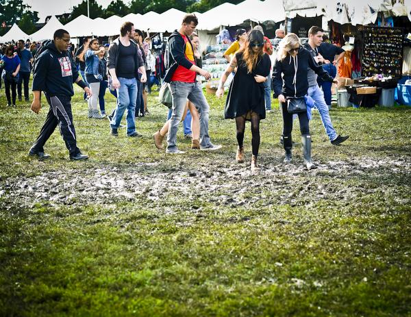 Rain boots, a sound choice for soggy Douglas Park