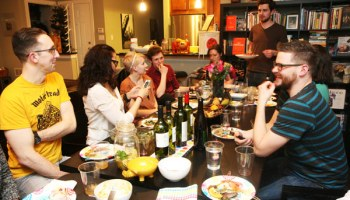 Over the past year, members of the supper club (which formed after a mushroom-foraging trip) hosted themed dinners such as Apicius (ancient Roman), Victorian, Jacksonian south, Viking, and Mesopotamia.