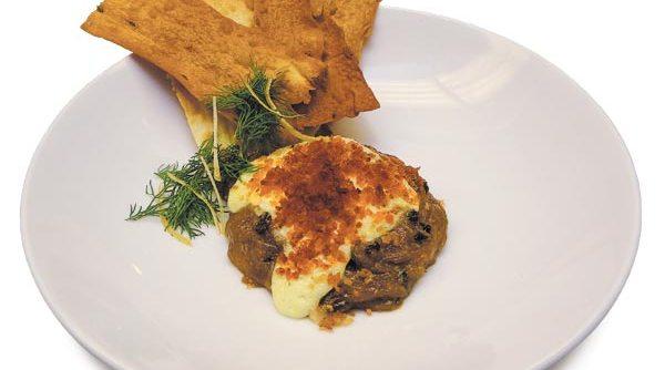 Deep-fried balut with micro-arugula salad and aioli