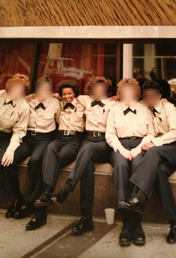 Officer Donna Adams with her fellow rookies from the class of March 1985