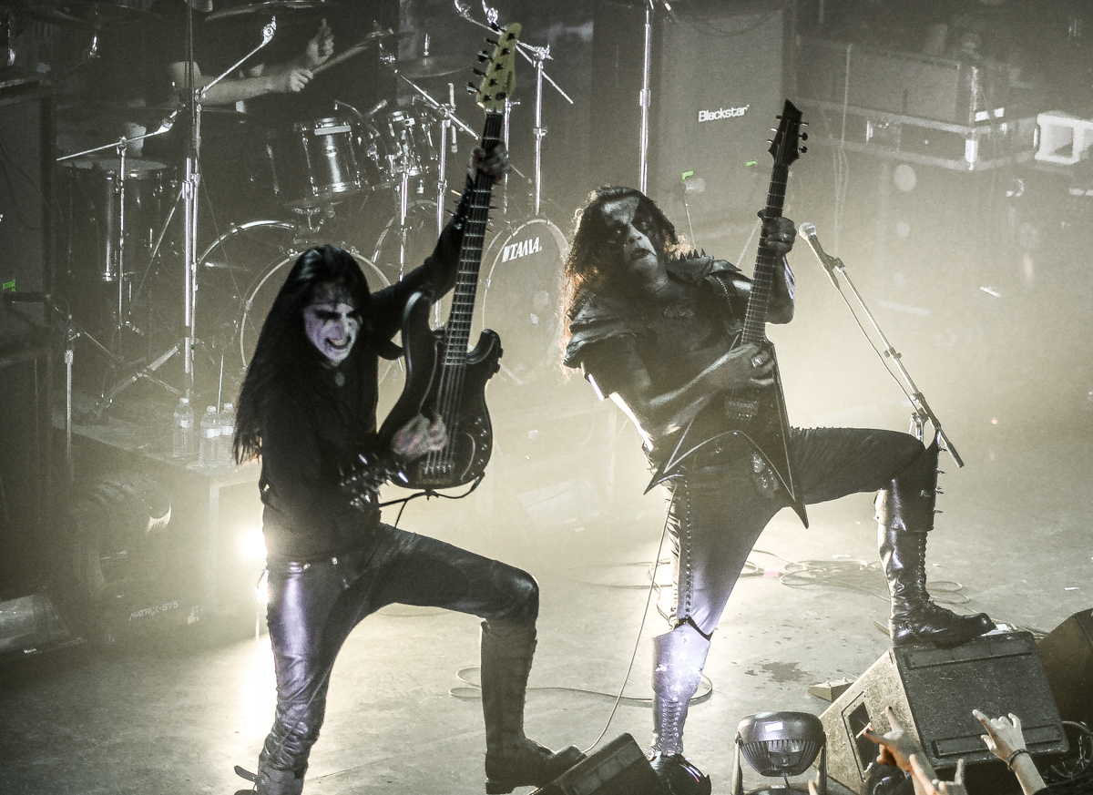 King and Abbath Doom Occulta onstage with Abbath at Metro