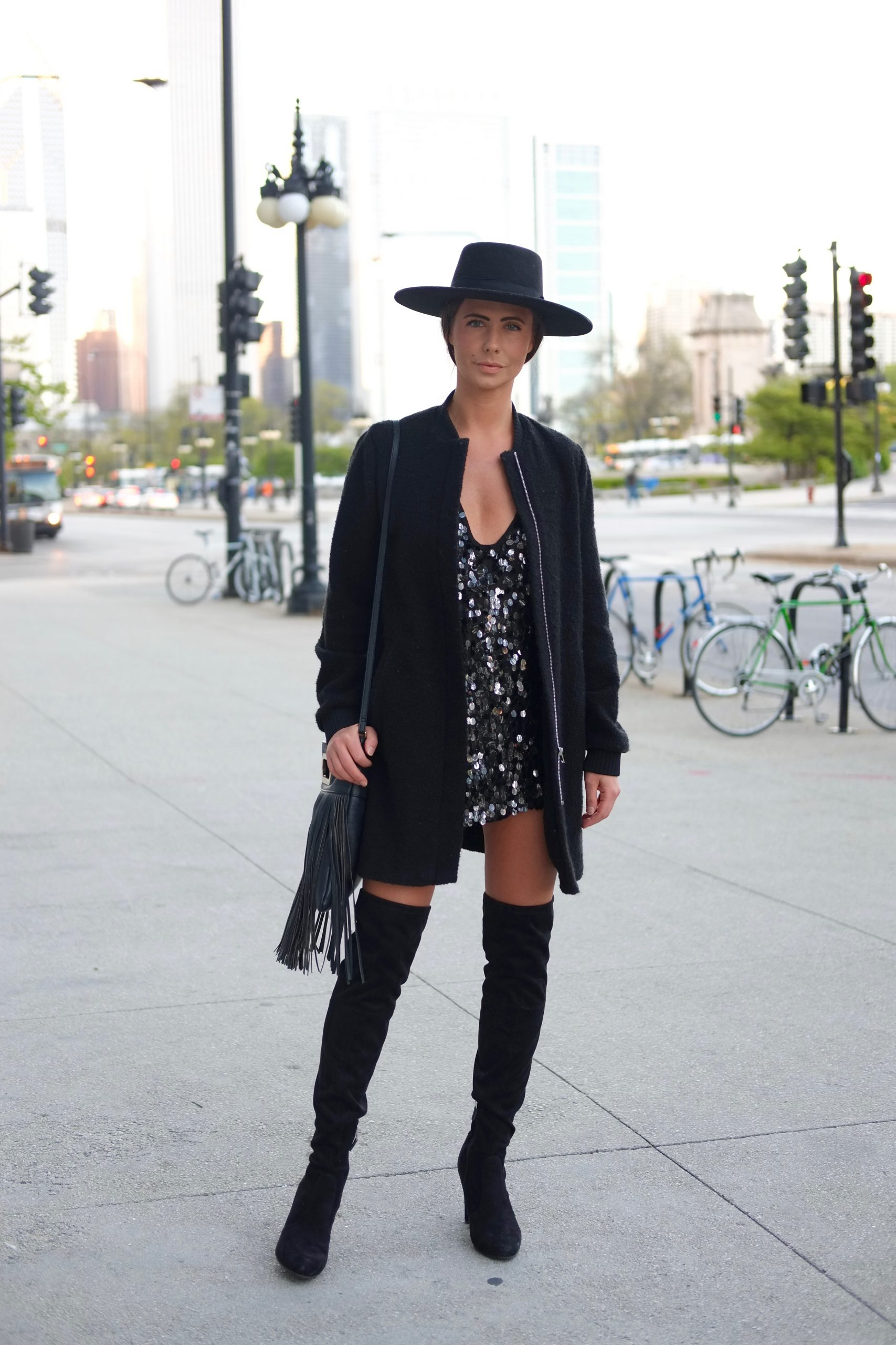 Jessica Ciak sporting a boho-glam look.