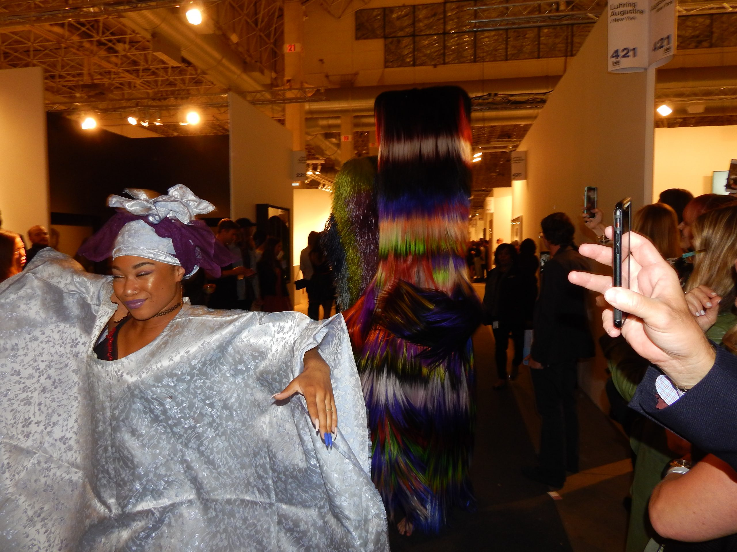 Like the Pied Piper, Nick Cave's dancers and fanciful creatures emptied the Expo galleries.