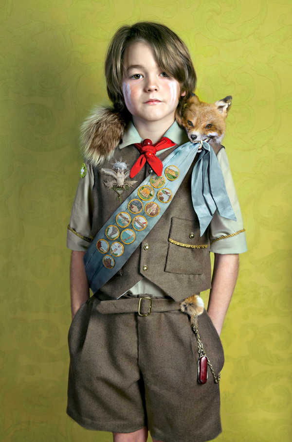 """<i>Ceremonial Portrait - Boy</i> from """"Owl Scouts: Lost in the Woods"""" by Todd Baxter"""