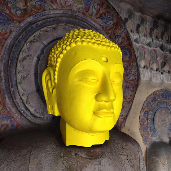 Buddha head by Jason Salavon and Travis Saul