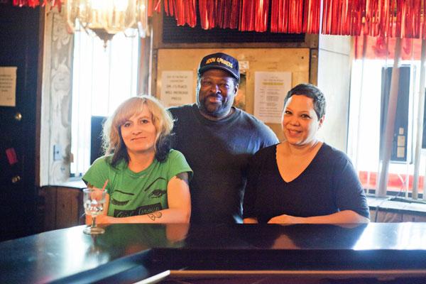 Andrea Jablonski, DJ Mr. Voice, and Edra Soto