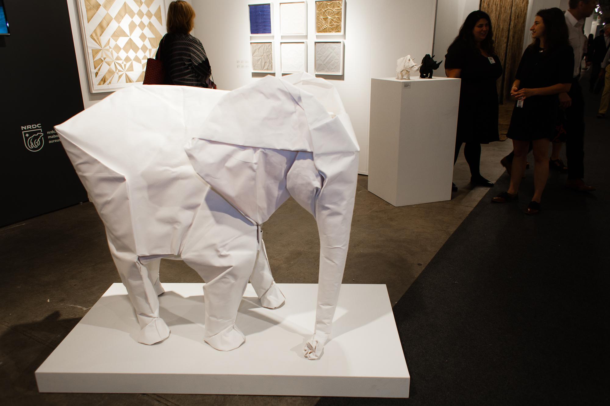 Sipho Mabona's origami elephants