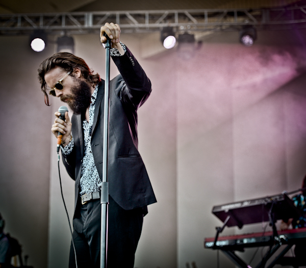 """During a song about his wife, Father John Misty admonished the boisterous crowd: """"Shh, my feelings."""""""