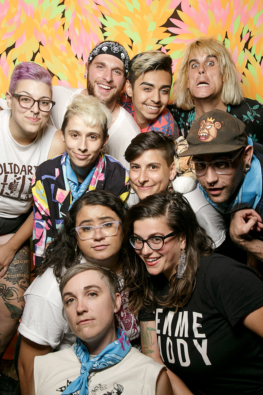 Members of the Fed Up Fest collective and folks from El Rescate