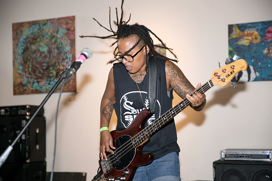 Bassist Selma of Chicago band Slop Sink